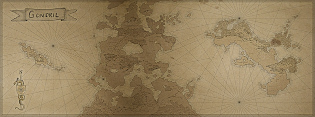 Gondril world map small